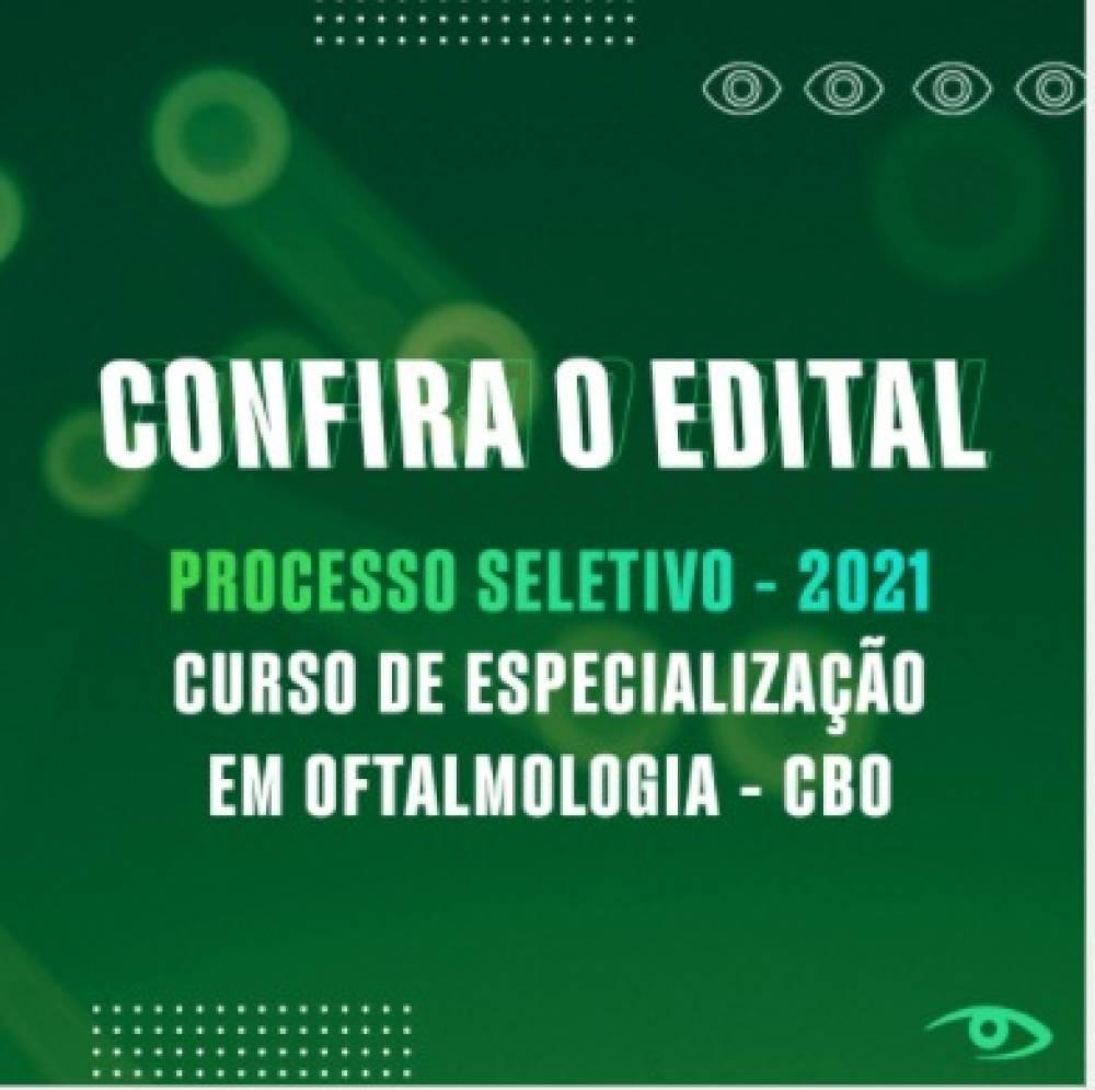 PROCESSO SELETIVO - 2021 Curso de Especialização em Oftalmologia - CBO